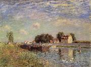 Alfred Sisley The Canal du Loing at St-Mammes oil painting reproduction