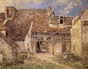Alfred Sisley Courtyard of Farm at St-Mammes oil painting reproduction