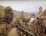 Alfred Sisley Sentier de la Mi-cote,Louveciennes oil painting reproduction