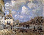 Alfred Sisley Boat in the Flood at Port-Marly oil painting reproduction
