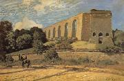 Alfred Sisley The Aqueduct at Marly oil painting reproduction
