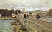 Alfred Sisley Footbridge at Argenteuil oil painting reproduction