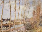 Alfred Sisley The Canal du Loing at Moret oil painting reproduction