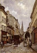 Alfred Sisley La Grande-Rue,Argenteuil oil painting reproduction