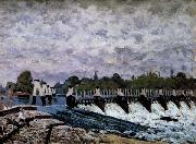 Alfred Sisley Molesey Weir-Morning oil painting reproduction