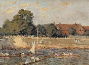 Alfred Sisley Regatta at Hampton Court oil painting reproduction