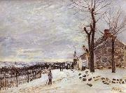Alfred Sisley Snowy Weather at Veneux-Nadon oil painting reproduction