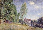 Alfred Sisley Matrat s Boatyard,Moret-sur-Loing oil painting reproduction