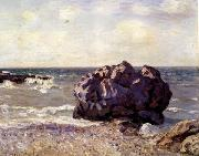 Alfred Sisley Langland Bay,Storr s Rock-Morning oil painting reproduction