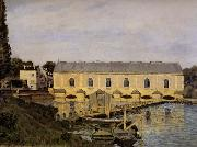 Alfred Sisley The Machine at Marly oil painting reproduction