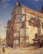 Alfred Sisley The Church at Moret in Morning Sun oil painting reproduction
