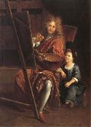 Antoine Coypel Portrait of the Artist with his Son,Charles-Antoine oil painting reproduction