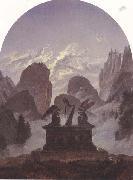Carl Gustav Carus The Goethe Monument (mk45) oil painting reproduction