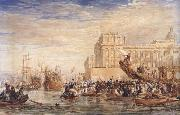 David Cox Embarkation of His Majesty George IV from Greenwich (mk47) oil painting picture wholesale