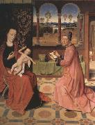 Dieric Bouts Saint Luke Drawing the Virgin and Child oil painting reproduction