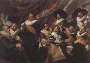 Frans Hals The Banquet of the St.George Militia Company of Haarlem  (mk45) oil painting reproduction