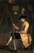 Friedrich Tischbein Self-Portrait at the Easel oil painting