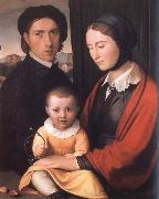 Friedrich overbeck The Artist with his Family oil painting