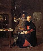 Self-Portrait with his Wife Isabella de Wolff in an Inn