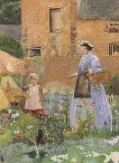 George John Pinwell,RWS In a Garden at Cookham (mk46) oil painting