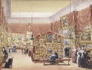 George Scharf Interior of the Gallery of the New Society of Painters in Watercolours (mk47) oil painting