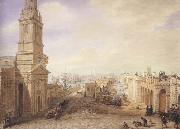George Scharf Old and New London Bridges as they appeared in December 1831 (mk47) oil painting