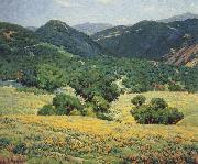 Granville Redmond Southern California Hills,n.d oil painting