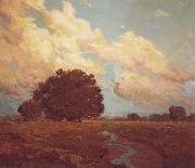 Granville Redmond Trees by a Meadow Stream oil painting