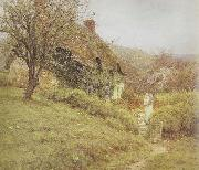 Helen Allingham,RWS South Country Cottage (mk46) oil painting