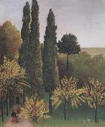 Henri Rousseau Landscape in Buttes-Chaumont oil painting reproduction