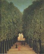 Henri Rousseau The Avenue,Park of Saint-Cloud oil painting reproduction