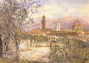 Henry Roderick Newman View of Florence,From the Gardens fo the Palazzo de'Mozzi (mk46) oil painting
