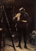 Honore Daumier The Painter before his Picture oil painting
