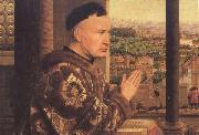 Jan Van Eyck Details of The Virgin of Chancellor Rolin (mk45) oil painting