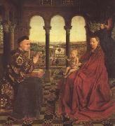 Jan Van Eyck The Virgin of Chancellor Rolin (mk45) oil painting