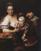 Portrait of the Artist with his Wife and Son