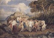 Joshua Cristall Nymphs and shepherds dancing (mk47) oil painting picture wholesale
