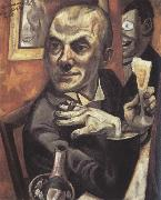 Max Beckmann Self-Portrait with a Glass of Champagne oil painting
