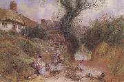 Myles Birket Foster,RWS Lane Scene at Hambleden (mk46)_ oil painting picture wholesale