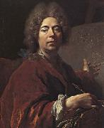 Self-Portrait Painting an Annunciation