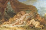 Nicolas-rene jollain Sleeping Cupid oil painting reproduction