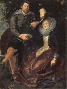 Peter Paul Rubens Self-Portrait with his Wife,Isabella Brant
