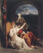 Queen Judith reciting to Alfred the Great (mk47)