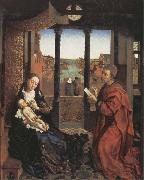 Roger Van Der Weyden Saint Luke Drawing the Virgin and Child oil painting reproduction