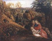 Rest on the Flight into Egypt or Holy Family