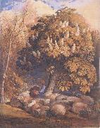 Samuel Palmer Pastoral with a Horse Chestnut Tree oil painting on canvas