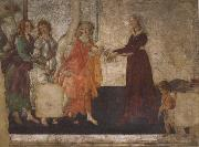 Venus and the Graces offering gifts to a youg woman