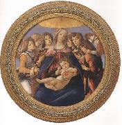 Madonna and child with six Angels or Madonna of the Pomegranate