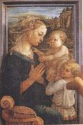Filippo Lippi,Madonna with Child and Angels or Uffizi Madonna