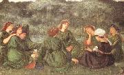 Sir Edward Coley Burne-jones,Bart.,ARA,RWS Green Summer (mk46) oil painting picture wholesale